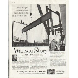"1961 Employers Mutuals of Wausau Ad ""accidents"""