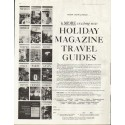 "1961 Holiday Magazine Travel Guides Ad ""6 more"""