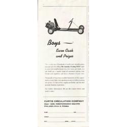 "1961 Curtis Circulation Company Ad ""Earn Cash"""