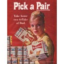 "1961 Budweiser Beer Ad ""Pick a Pair"""