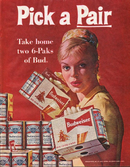 1961 Budweiser Beer Vintage Ad Quot Pick A Pair Quot