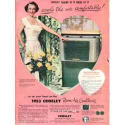 "1953 Crosley Air Conditioner Ad ""cools the air"""