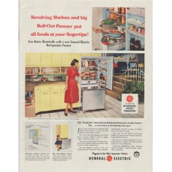 "1958 General Electric Ad ""Revolving Shelves"""