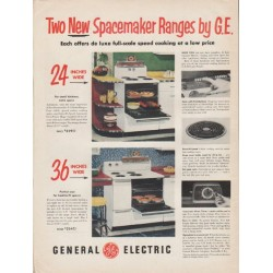 "1953 General Electric Ad ""Spacemaker Ranges"""
