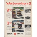 """1953 General Electric Ad """"Spacemaker Ranges"""""""