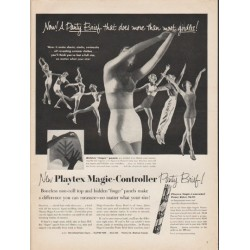 "1953 Playtex Panty Brief Ad ""does more"""