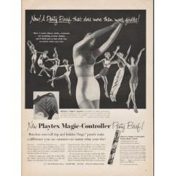 "1953 Playtex Panty Brief Ad ""does more"""