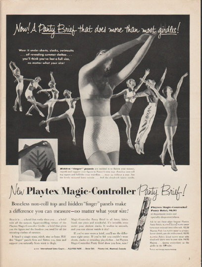 1953 playtex panty brief vintage ad  u0026quot does more u0026quot