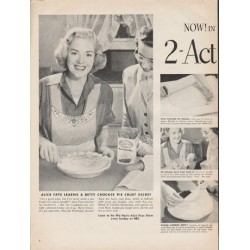 "1953 Betty Crocker Ad ""Action Shortening"""