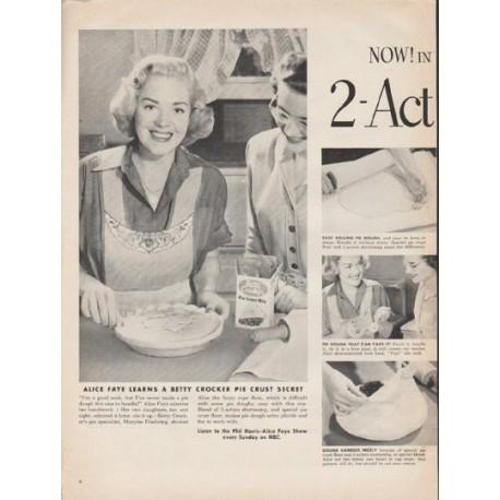 """1953 Betty Crocker Ad """"Action Shortening"""""""