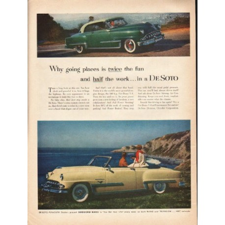 "1953 De Soto Ad ""going places"" ~ (model year 1953)"