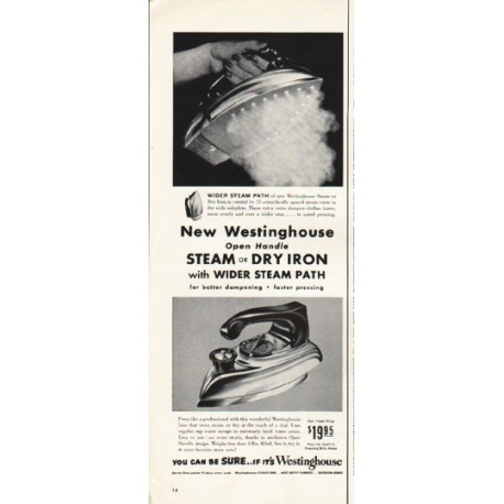 """1953 Westinghouse Iron Ad """"steam or dry"""""""