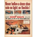"1953 Crown Neolite Shoes Ad ""Never before"""