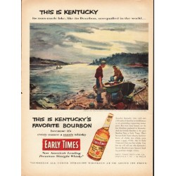"1953 Early Times Whisky Ad ""This is Kentucky"""