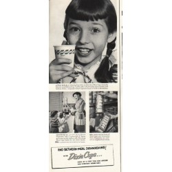 "1953 Dixie Cups Ad ""Little Girls"""