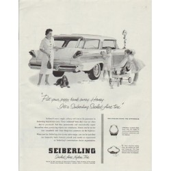 "1958 Seiberling Tires Ad ""Piggy Bank"""