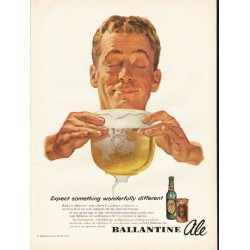 "1953 Ballantine Ale Ad ""Expect something"""