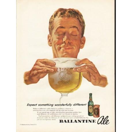 "1953 Ballantine Ale Ad ""Expect something"""