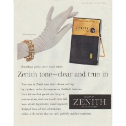 "1958 Zenith Ad ""Something you've never heard before"""