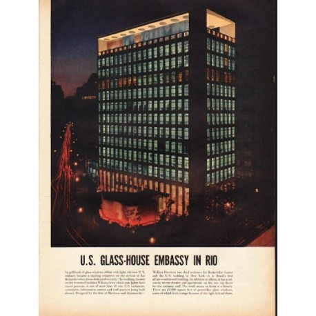 1953 U.S. Glass-House Embassy in Rio Article