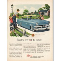 "1953 Ford Crestline Ad ""half the picture"" ~ (model year 1953)"