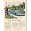 "1953 Ford Crestline Ad ""half the picture"" ~ (model year 1953)"