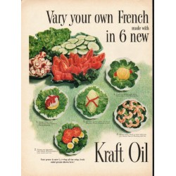 "1953 Kraft Oil Ad ""your own French Dressing"""
