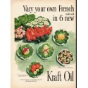 """1953 Kraft Oil Ad """"your own French Dressing"""""""