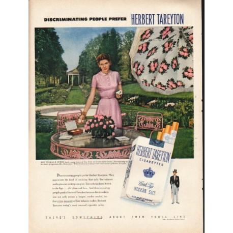 "1953 Herbert Tareyton Cigarettes Ad ""Discriminating People """