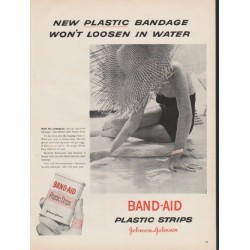 "1953 Johnson & Johnson Band-Aid Ad ""plastic bandage"""