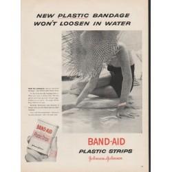 """1953 Johnson & Johnson Band-Aid Ad """"plastic bandage"""""""