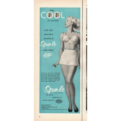 "1953 Spun-lo Knit Rayon Ad ""keep cool"""