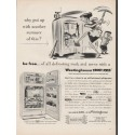 "1953 Westinghouse Freezer-Refrigerator Ad ""another summer"""
