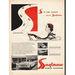 "1953 Saginaw Power Steering Ad ""S is for safety"""