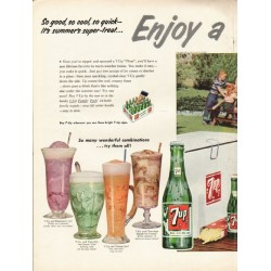 "1953 7-Up Ad ""So good, so cool"""