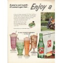"""1953 7-Up Ad """"So good, so cool"""""""