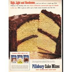 "1953 Pillsbury Cake Mix Ad ""Light and Handsome"""