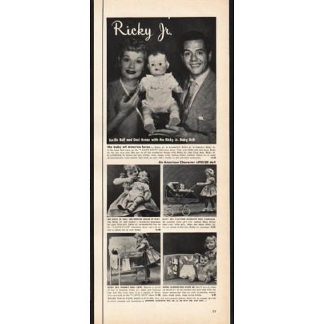 "1953 American Character Doll Company Ad ""Ricky Jr."""
