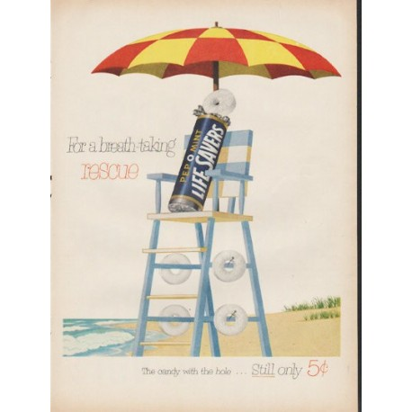 "1953 Life Savers Ad ""rescue"""
