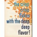 "1953 Kellogg's Corn Flakes Ad ""crisp crisp flakes"""