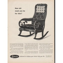 "1953 Lederle Laboratories Division Ad ""How old must you be"""