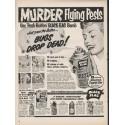 """1953 Black Flag Insect Killer Ad """"Murder Flying Pests"""""""