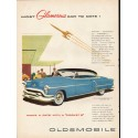 "1953 Oldsmobile Ninety-Eight Ad ""Most Glamorous"" ~ (model year 1953)"