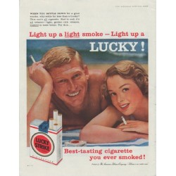 "1958 Lucky Strike Ad ""Light up a Lucky!"""