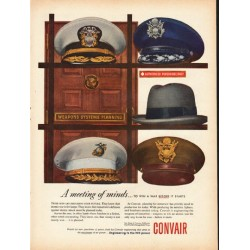 """1953 Convair Engineering Ad """"A meeting of minds"""""""