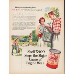 """1953 Shell Motor Oil Ad """"start driving home"""""""