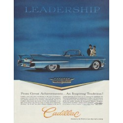 "1958 Cadillac Series 62 Convertible Ad ""Leadership"""
