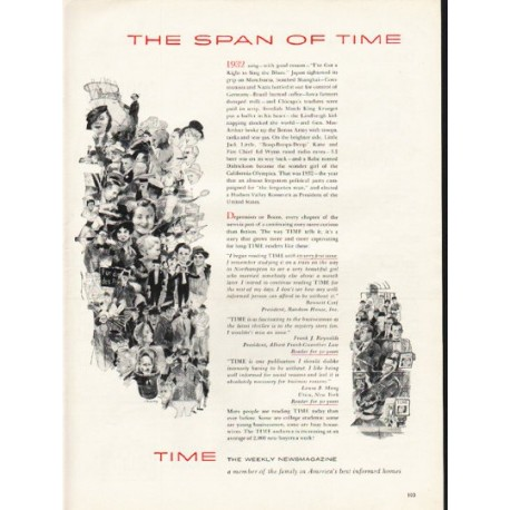"1953 TIME Magazine Ad ""The Span of TIME"""
