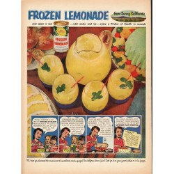 "1953 Lemon Products Advisory Board Ad ""Frozen Lemonade"""