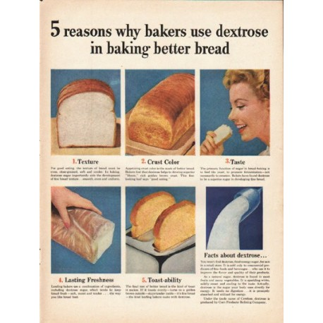 """1953 Corn Products Refining Company Ad """"5 reasons"""""""